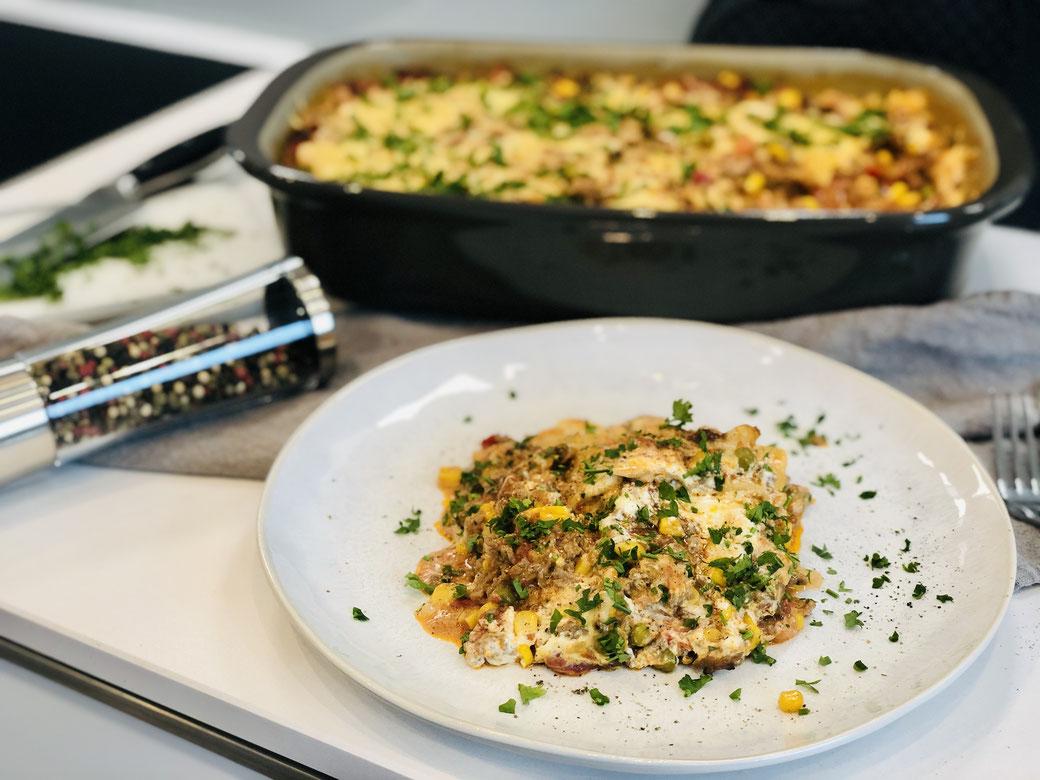 Leckere Lasagne aus der tollen rechteckigen Ofenhexe® von Pampered Chef®