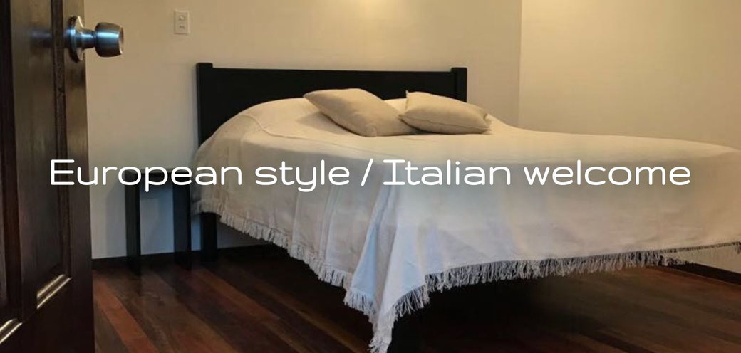 European style / Italian welcome