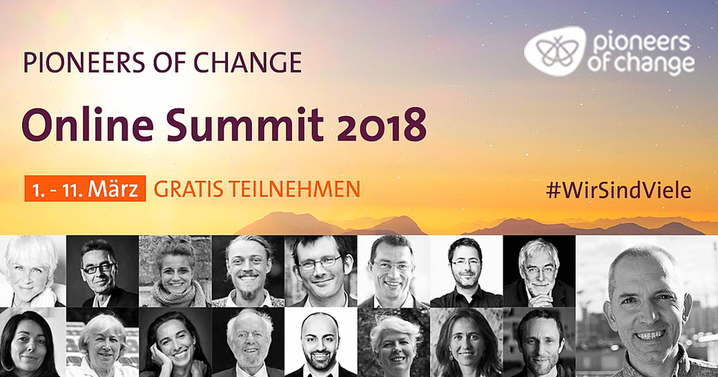 Pioneers of Change Online Summit 2018, Wirsindviele, MeinKongress.de
