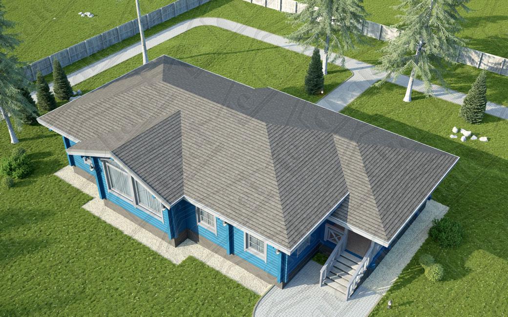 ле шале 160 кв.м, проект одноэтажное шале , строительство под ключ