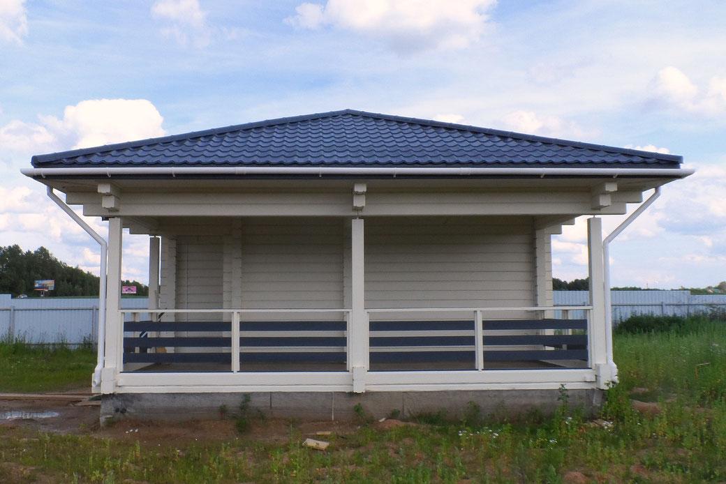 ле шале 90 кв.м, проект одноэтажное шале , строительство под ключ, шале из клееного бруса