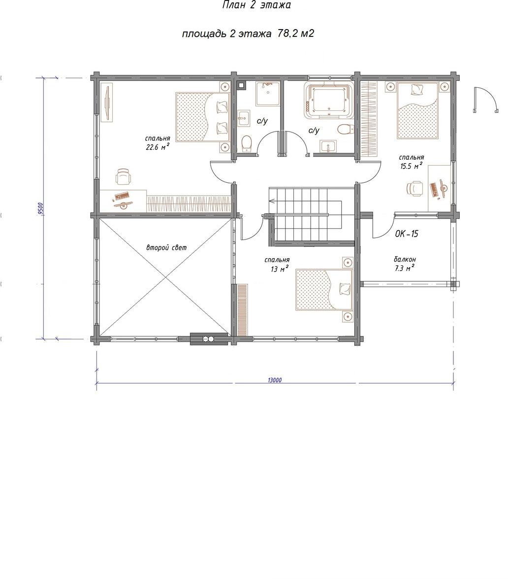 ле шале 187, строительство шале под ключ, двухэтажное шале, шале из клееного бруса, проект шале с сауной и вторым светом