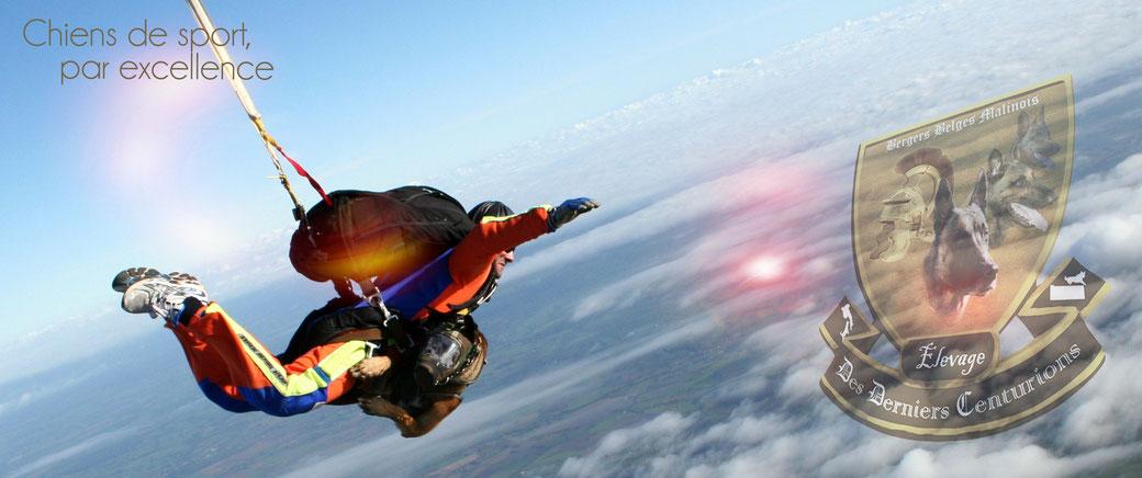 Duke Des Derniers Centurions lors d'un saut à haute altitude