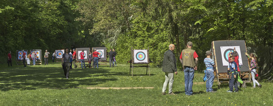 Bogenplatz der Schützengesellschaft Esslingen in Esslingen Sirnau bei der Kreismeisterschaft