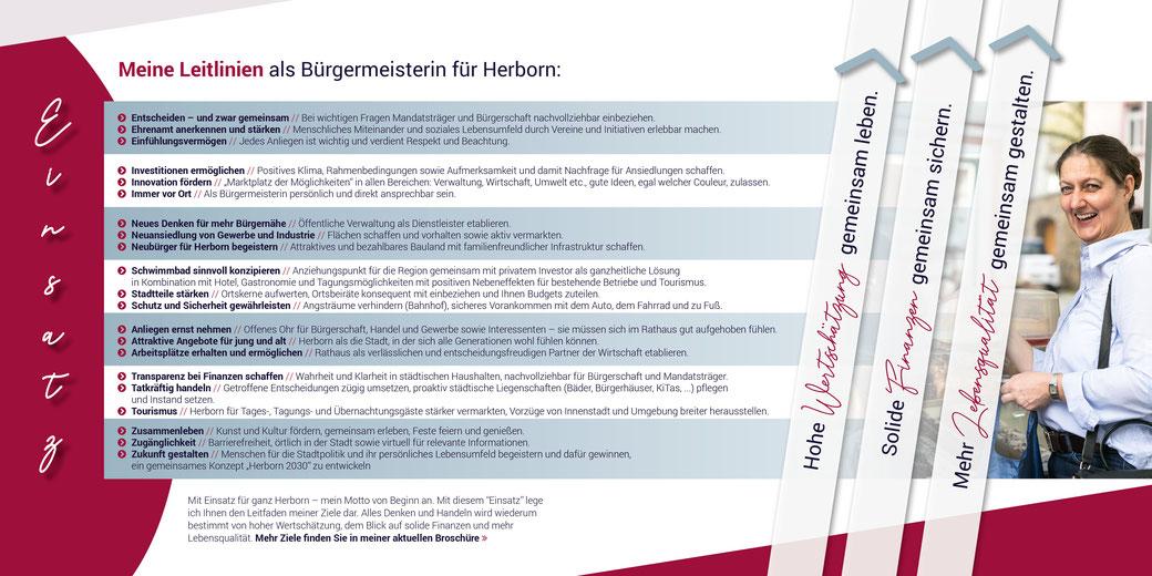EINSATZ - 7 Themenschwerpunkte für die Bürgermeisterwahl in Herborn von Katja Gronau