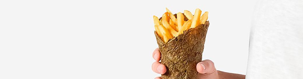 Foto de Envase hecho a base de piel de patata reciclada de Peel Saver. © Peel Saver