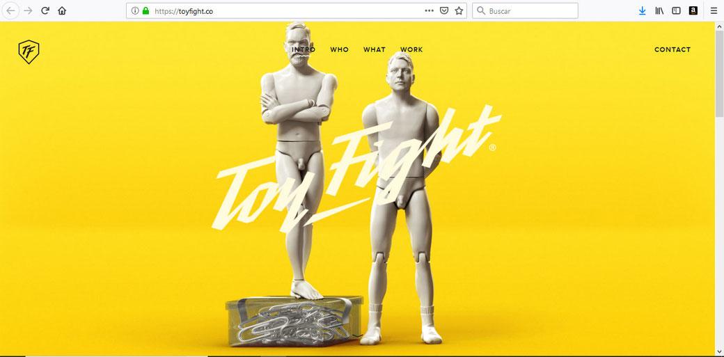 Sitio Web de Toy Fight.