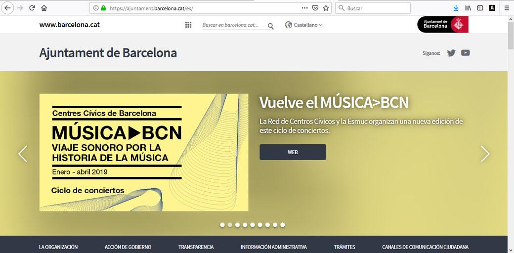 Sitio Web del Ayuntamiento de Barcelona.