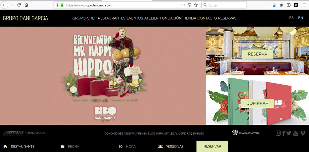 Sitio Web de Grupo Dani García.