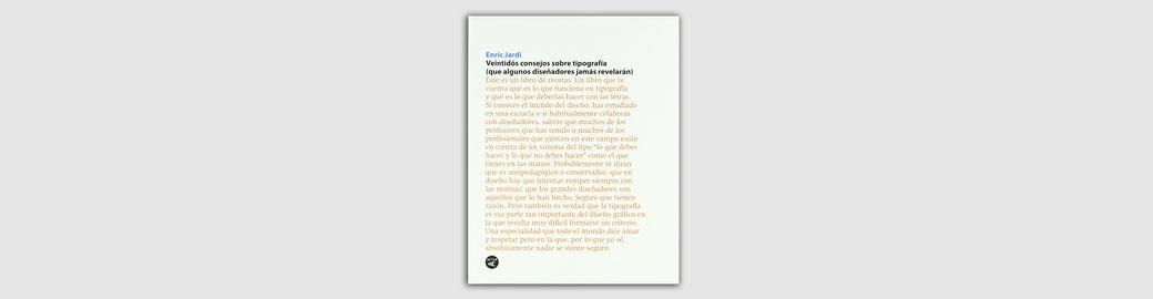 Imagen del libro Veintidós consejos sobre tipografia
