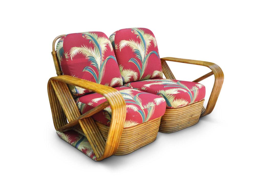 Vintage Rattan Chair Paul Frankl Mid Century Modern