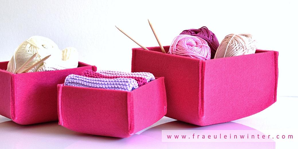 DIY Filzbox - Utensilo aus Filz | Fräulein Winter