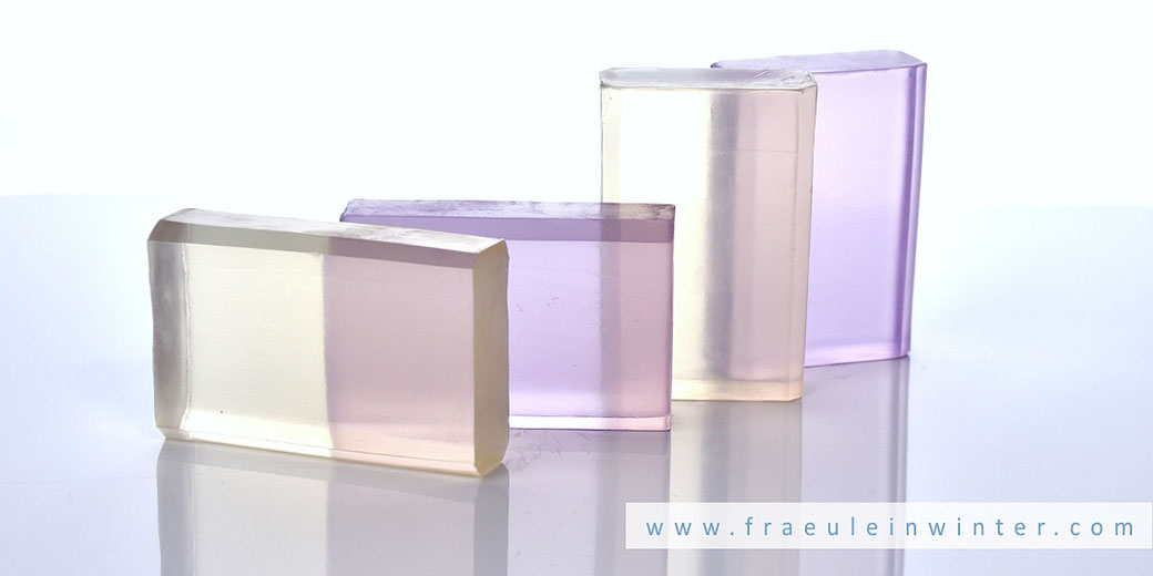 Selbstgemachte Transparentseife | Clear Soap - handmade by Fräulein Winter