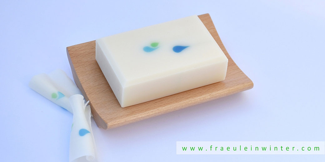Droplets (made with a funnel) | Handmade Soap by Fraeulein Winter