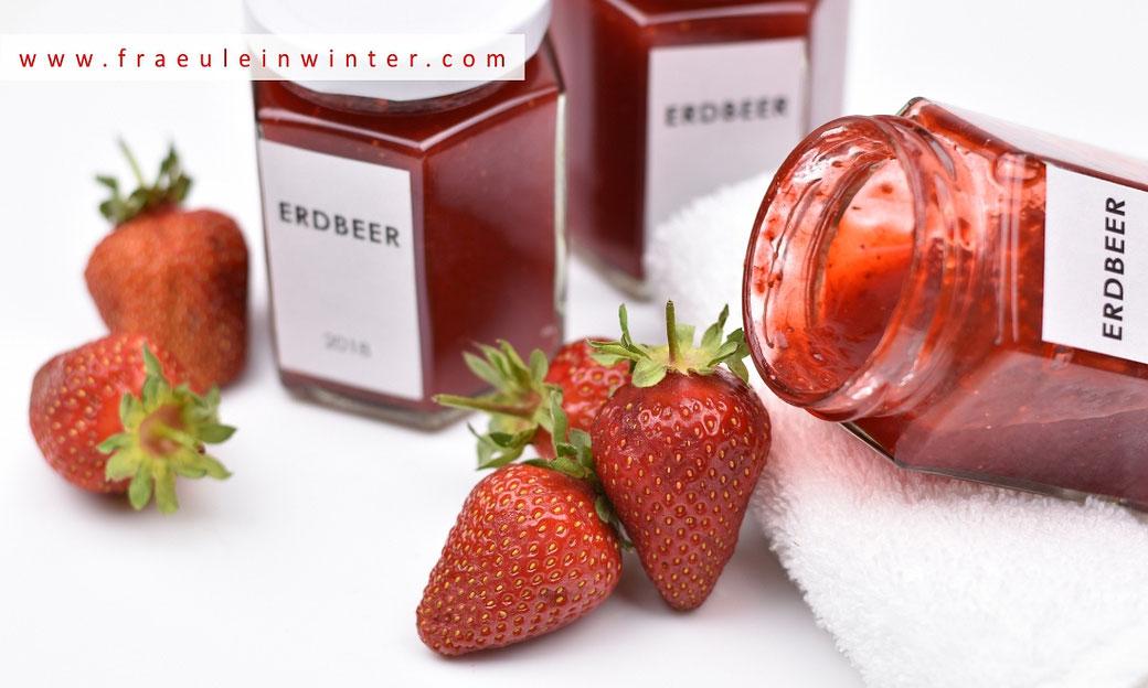 Erdbeermarmelade selber machen. | Fräulein Winter