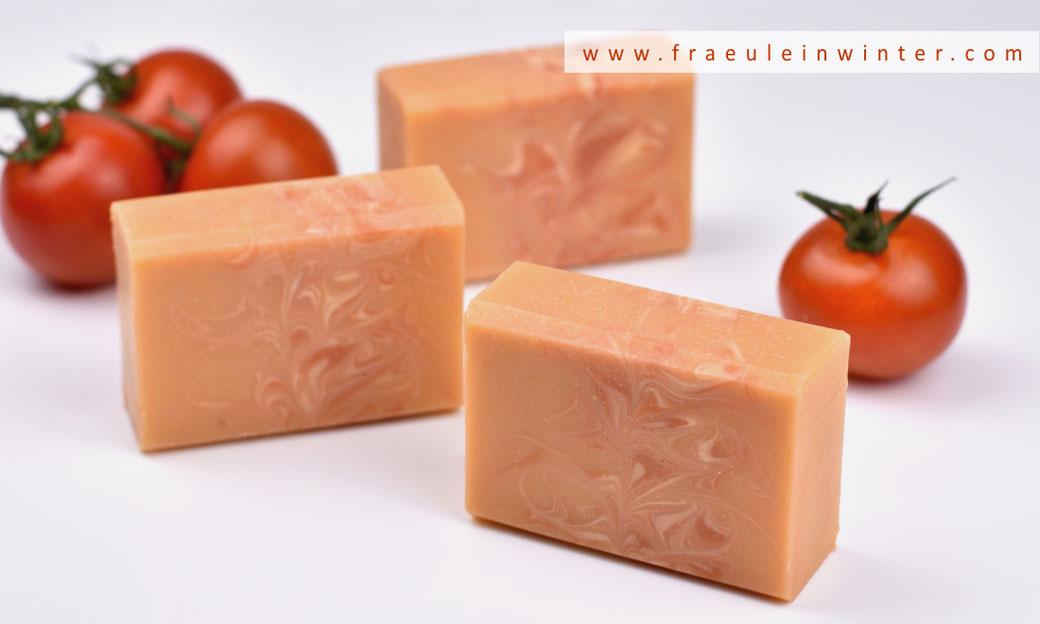 Seife sieden - Tomatenseife | Fräulein Winter