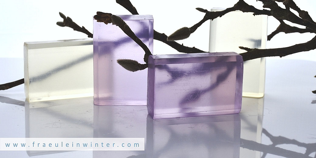 Selbstgemachte Transparentseife | Clear soap from scratch by Fräulein Winter