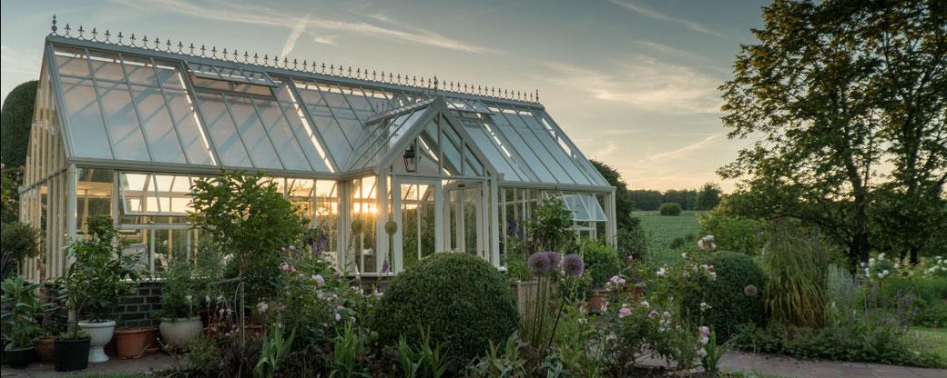 Englisches Gewächshaus, Gewächshaus, exklusive Gewächshäuser, designer Gewächshäuser, Hartley Botanic Gewächshäuser, exclusive Gärten