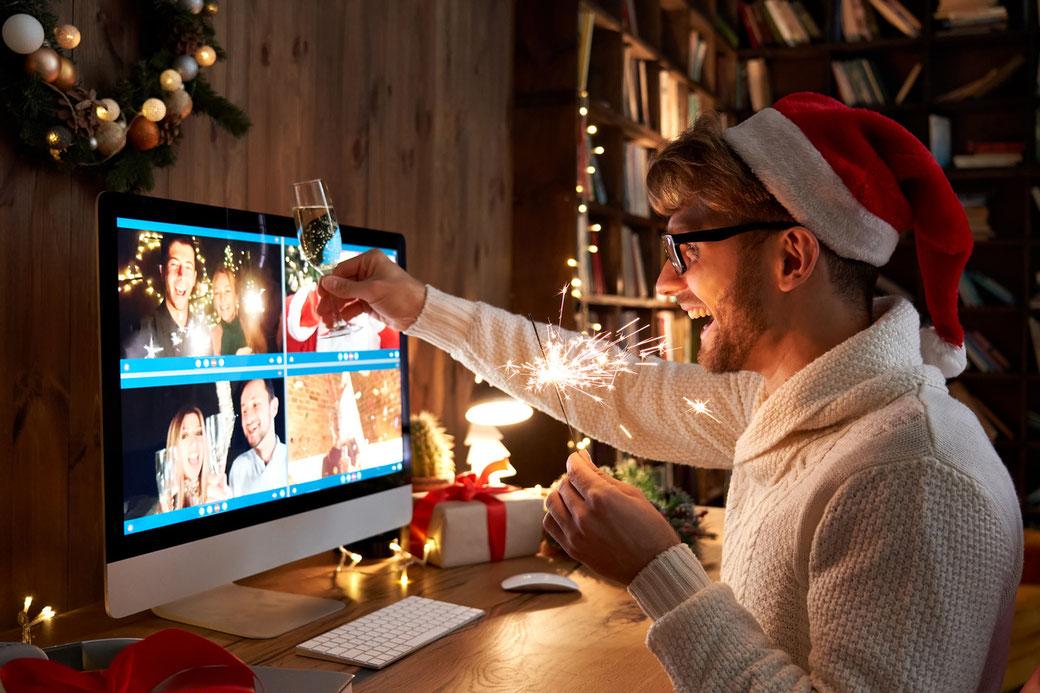 Online Zaubershow auf digitaler Weihnachtsfeier