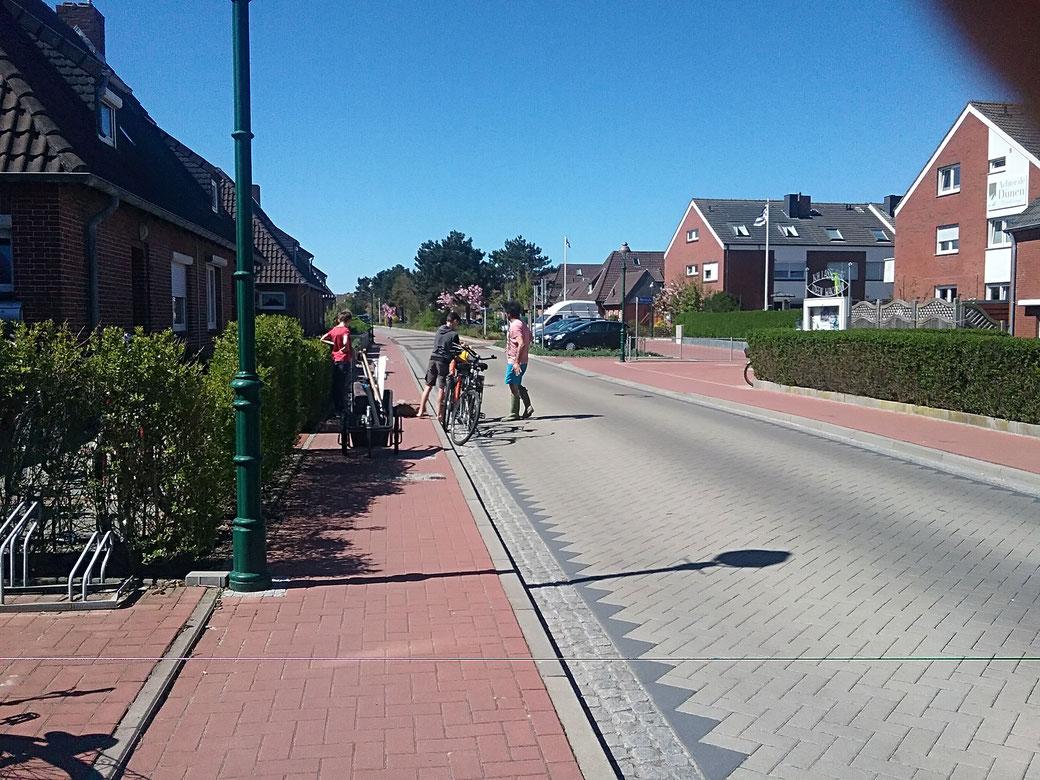 neu gestaltete Nordhelmstrasse beim Haus Ecker Norderney, Ferienwohnung an der Nordsee
