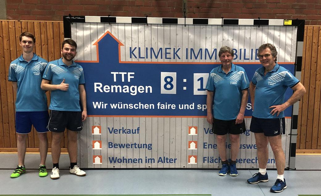 Die siegreiche zweite Mannschaft v.l. Peer Stobbe, Lars Stelzer, Hans Frittmann und Dr. Dieter Berger