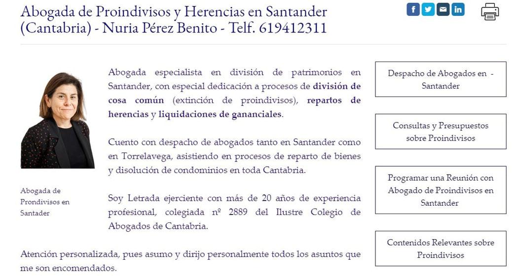 Abogada de Proindivisos en Cantabria, herencias, división de gananciales.