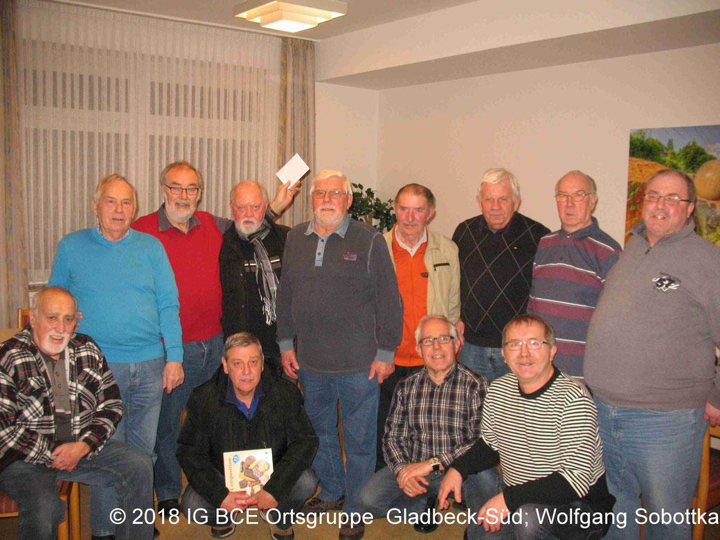Foto: Gruppenbild Frühjahrs-Skatturnier 2017, IG BCE Ortsgruppe Gladbeck-Süd