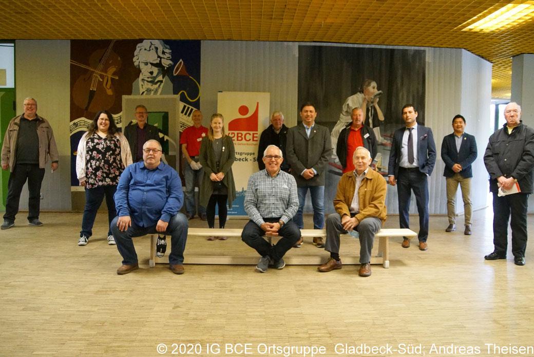 Gruppenbild vom neue gewählten Vorstand der OG Gladbeck-Süd