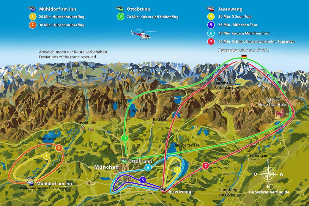Rundflug Map München