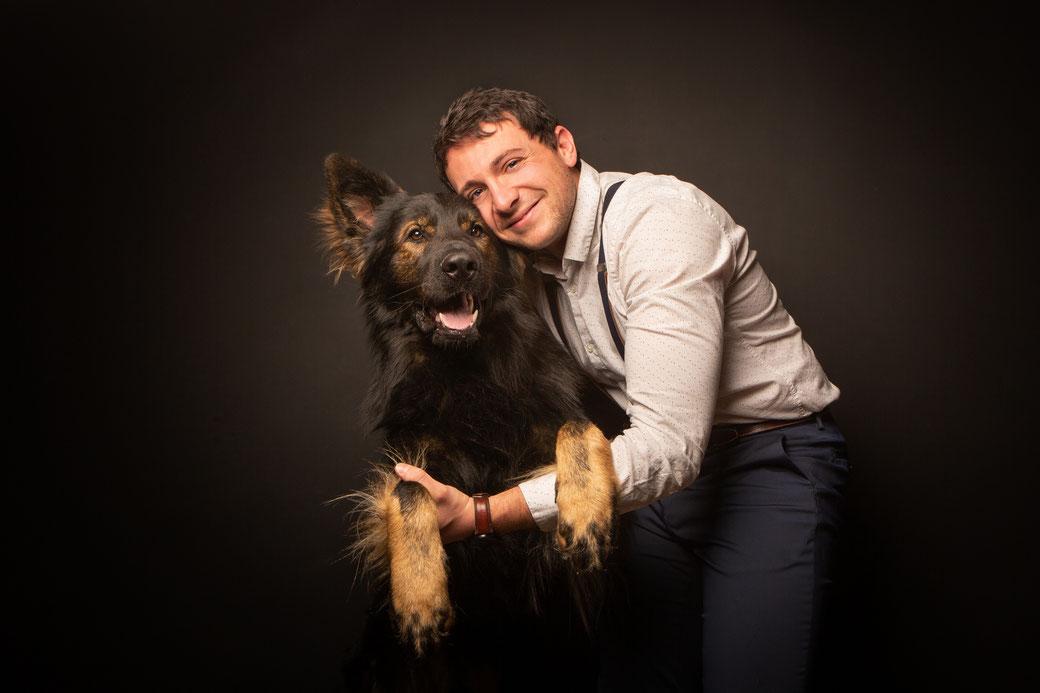 photographe portait de chien, photo de chien, séance photo chien extérieur toulouse