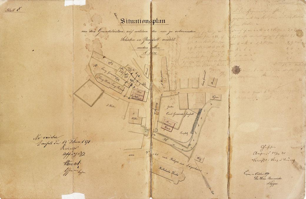 Historische Karte von Zweifall