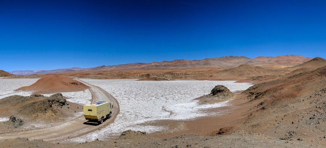 Pepamobil in den Anden Argentiniens