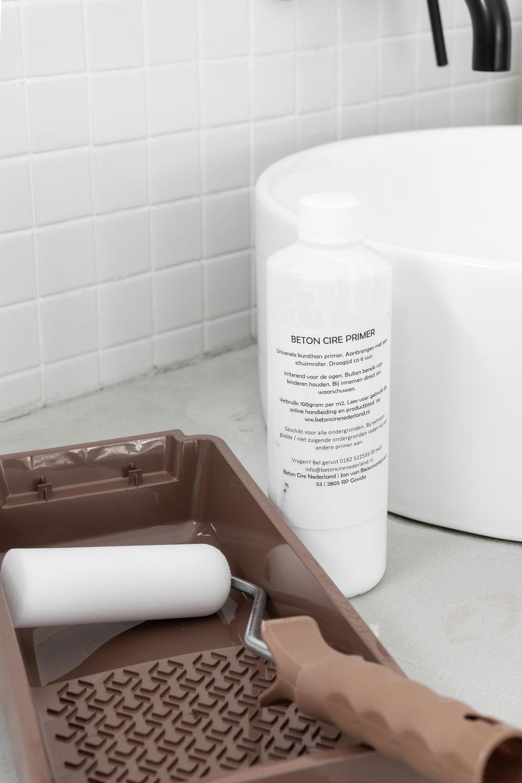 Toepassen beton cire in badkamer
