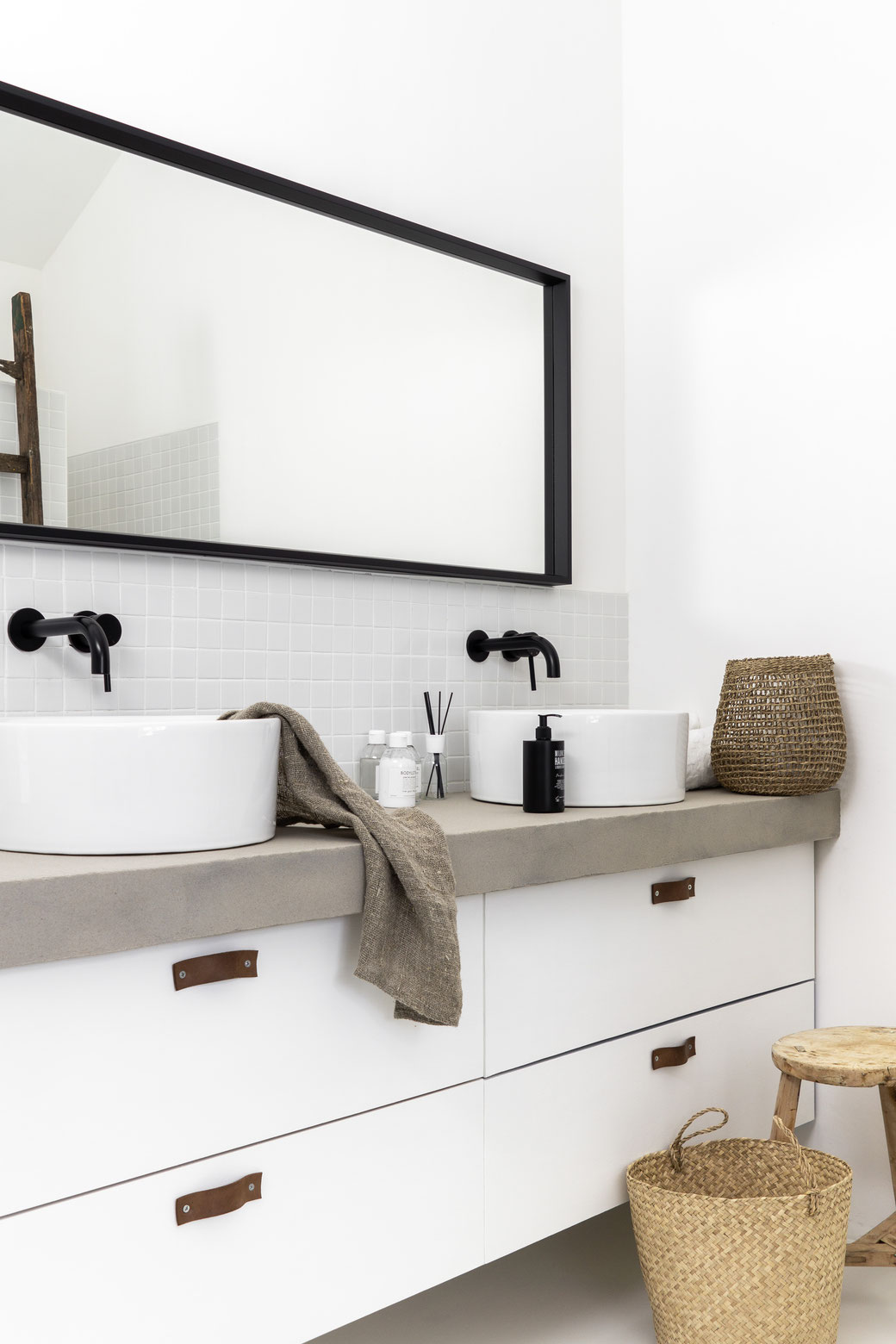 Betonstuc in badkamer