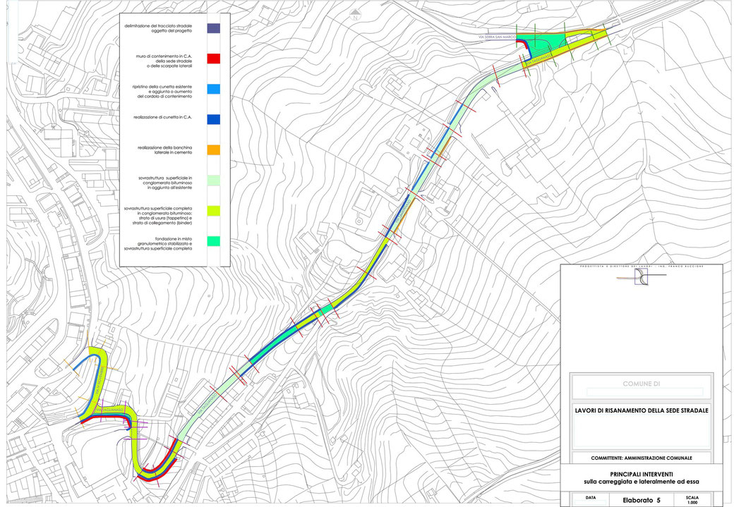 Stralcio progetto infrastrutturale manutenzione stradale  - ELAB 5