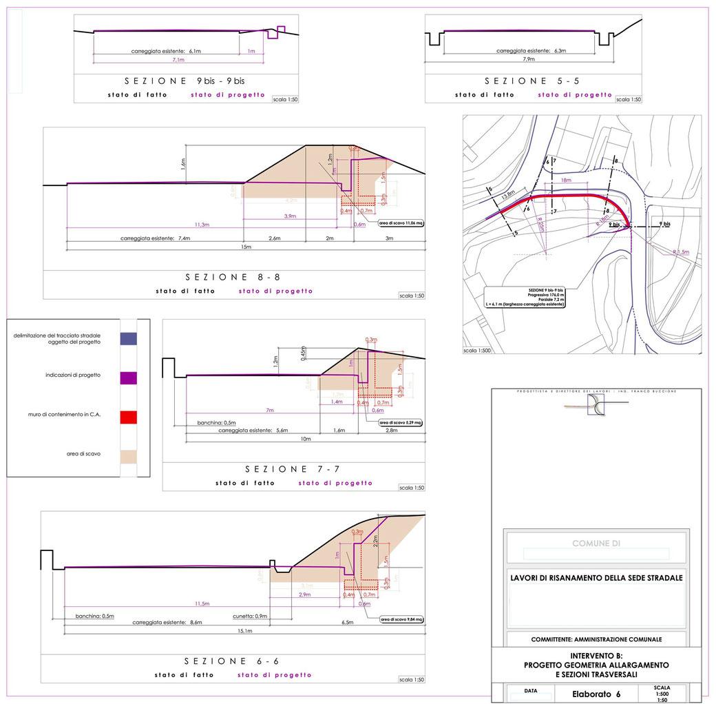 Stralcio progetto infrastrutturale manutenzione stradale  - ELAB 6 intervento B
