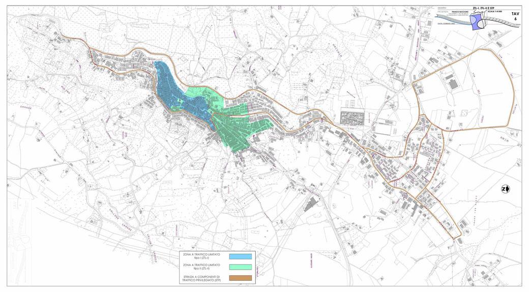 Stralcio di un Piano Urbano del Traffico (PUT)  - TAV 6