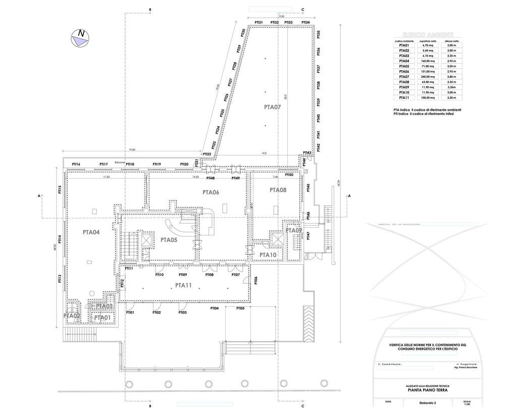 Esempio di progettazione strutturale - Stralcio elaborati di una relazione sul contenimento energetico albergo (elab 2)