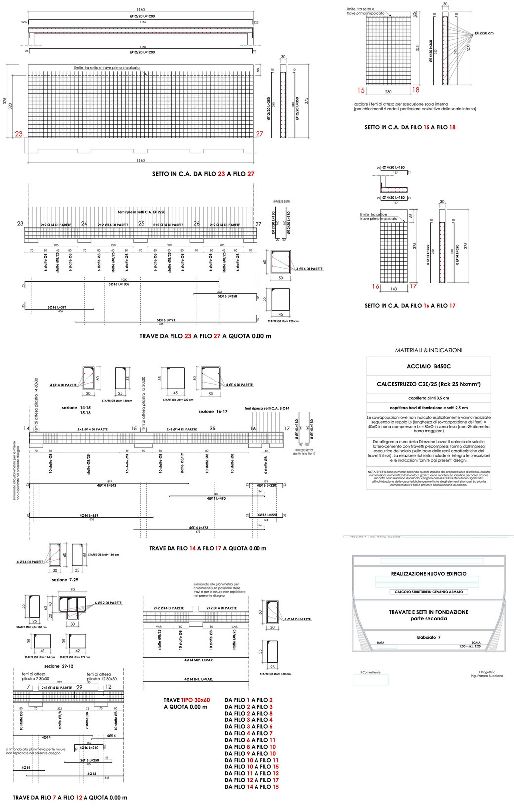 Esempio di progettazione strutturale - Stralcio progetto strutture di un edificio - Fondazioni 3