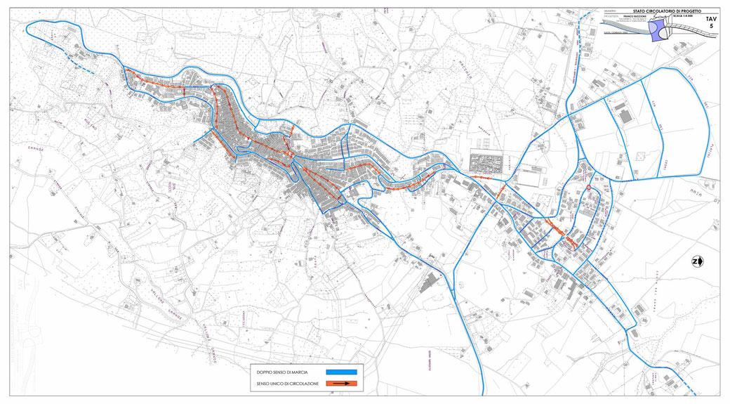 Stralcio di un Piano Urbano del Traffico (PUT)  - TAV 5