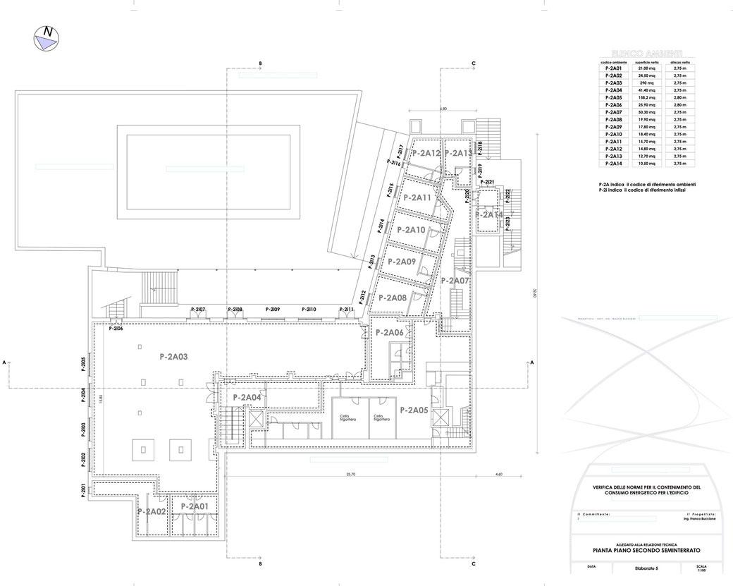 Esempio di progettazione strutturale - Stralcio elaborati di una relazione sul contenimento energetico albergo (elab 5)
