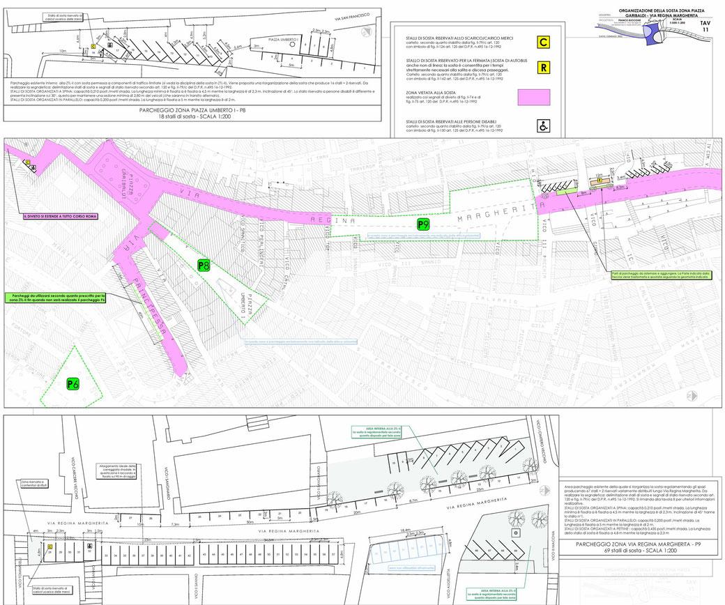 Stralcio di un Piano Urbano del Traffico (PUT)  - TAV 11