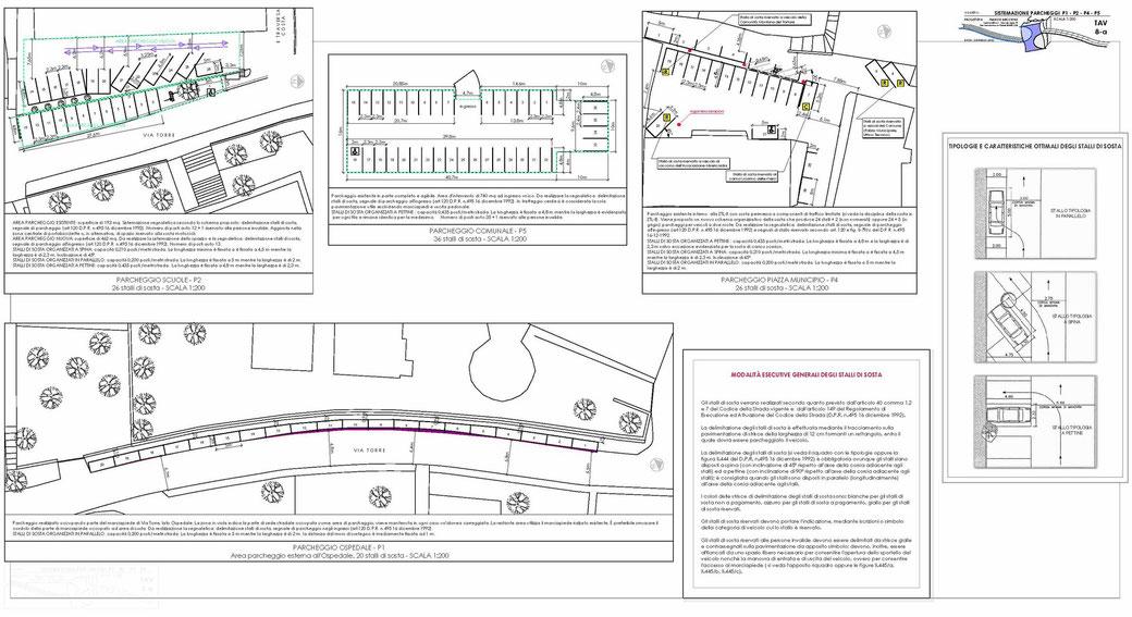 Stralcio di un Piano Urbano del Traffico (PUT)  - TAV 8-a
