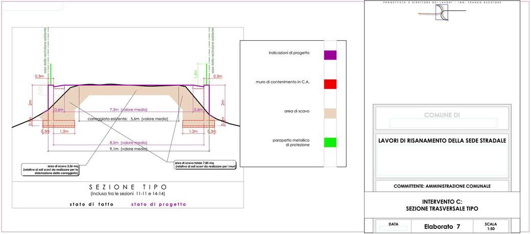Stralcio progetto infrastrutturale manutenzione stradale  - ELAB 7 intervento C