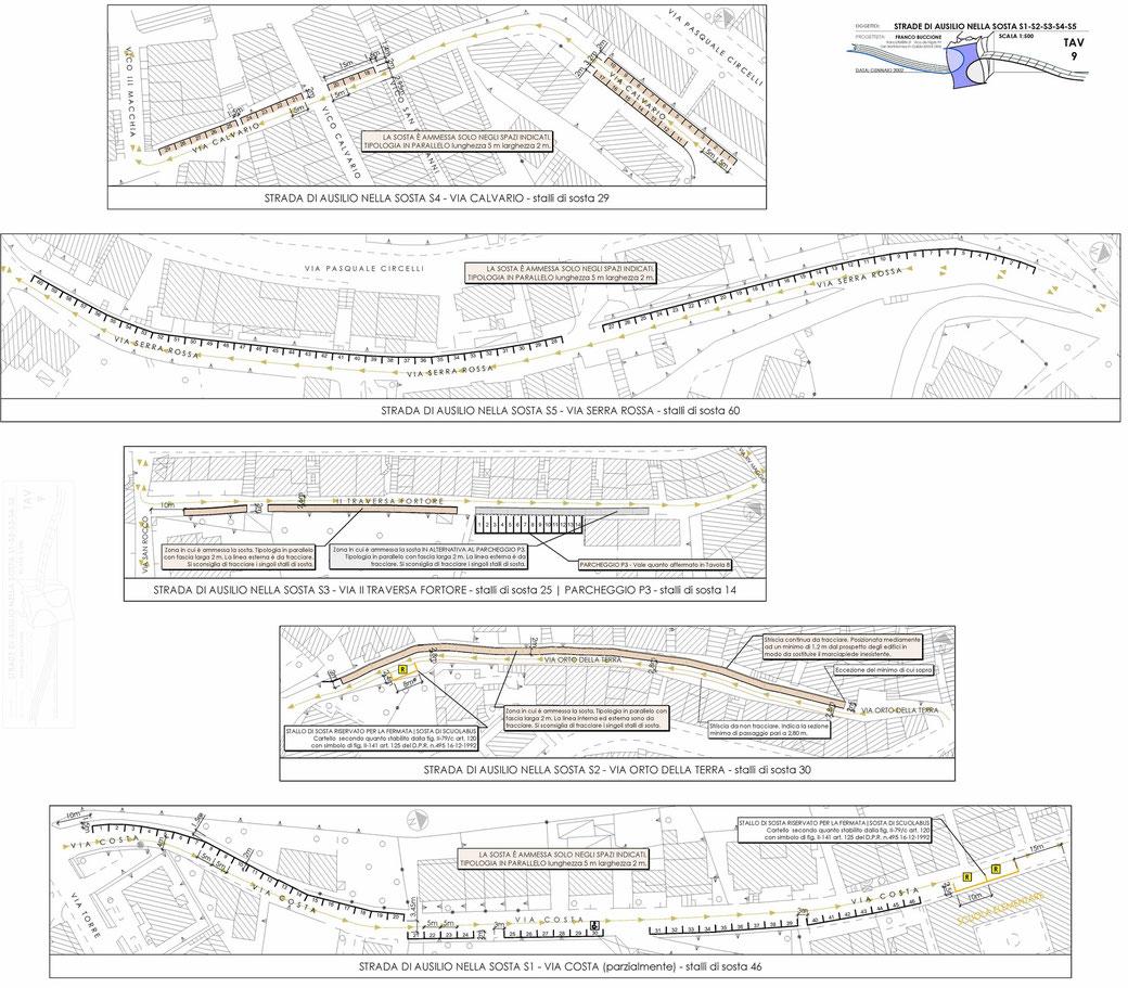 Stralcio di un Piano Urbano del Traffico (PUT)  - TAV 9