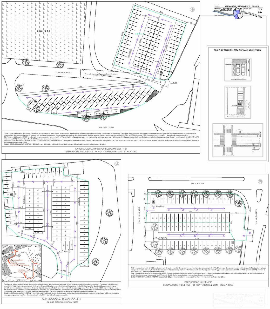 Stralcio di un Piano Urbano del Traffico (PUT)  - TAV 8-b