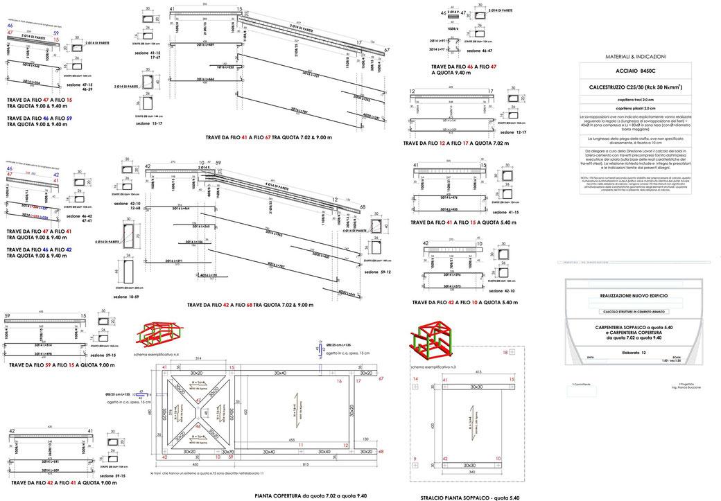 Esempio di progettazione strutturale - Stralcio progetto strutture di un edificio - Carpenteria soppalco e copertura