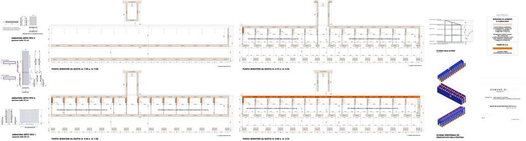 Esempio di progettazione strutturale - Stralcio progetto strutture in cemento armato di un'opera pubblica - Murature e setti in c.a.
