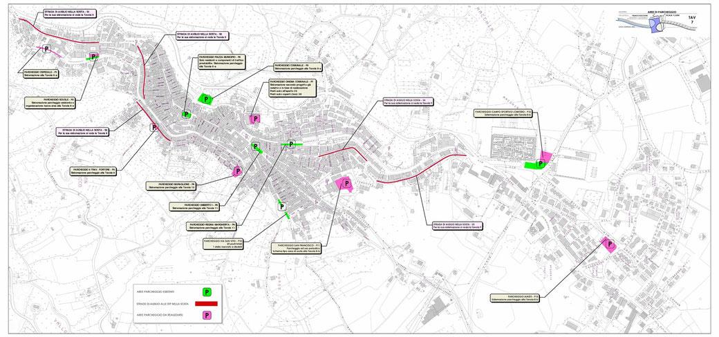 Stralcio di un Piano Urbano del Traffico (PUT)  - TAV 7