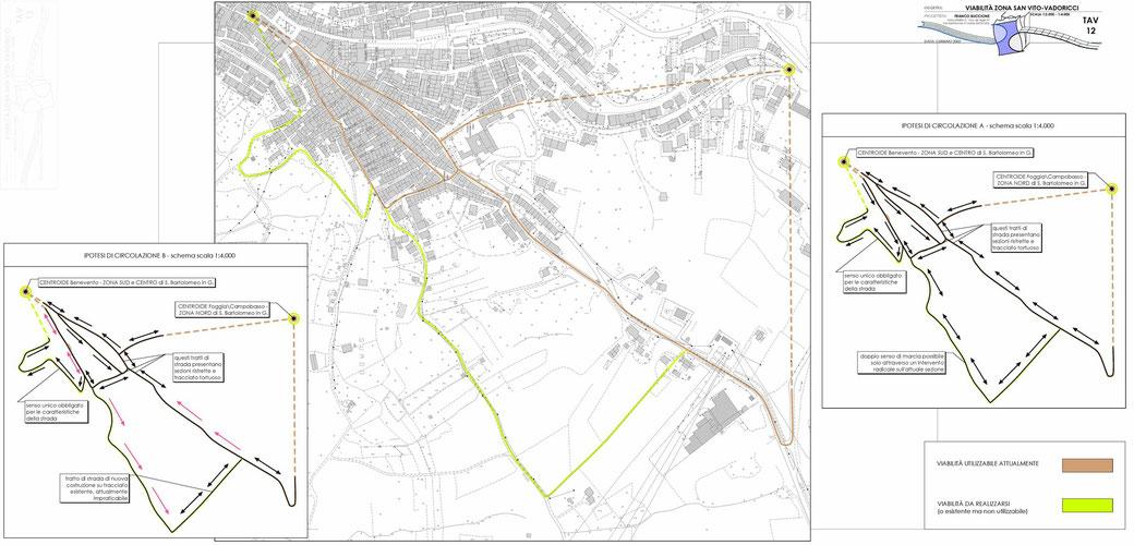 Stralcio di un Piano Urbano del Traffico (PUT)  - TAV 12